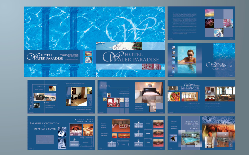 Hotel brochure design sample