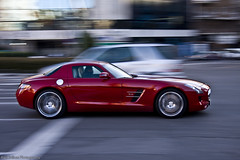 Mercedes SLS AMG (Raul Salinas) Tags: madrid red espaa cars car canon dark photography eos mercedes amazing spain rojo beige interior salinas exotic raul 17 expensive 85 supercar v8 sls amg powerfull burdeos eor 40d autogespot