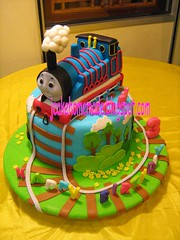 Thomas the tank engine birthday cake (Jcakehomemade) Tags: customcake 3rdbirthdaycake zoeysbirthdaycake 3dbirthdaycake childrenbirthdaycake scupltedcake jcakehomemade thomasandtankenginebirthdaycake trainbirthdaycaketransport