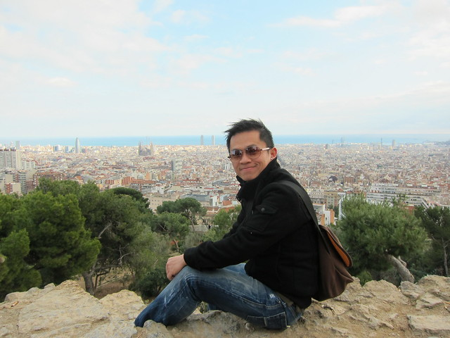 At Park Guell Of Barcelona
