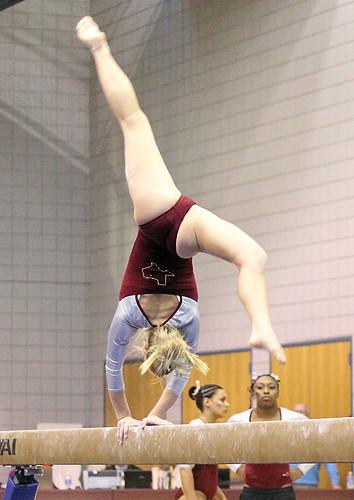Twu Gymnastics Beam Brittany Johnson A Photo On Flickriver