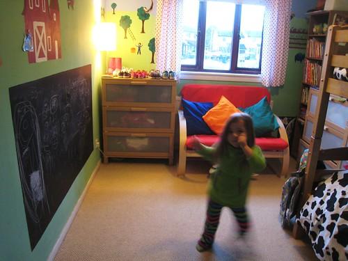 kids room dance view