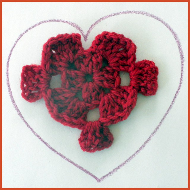 Crochet Heart, Granny Square