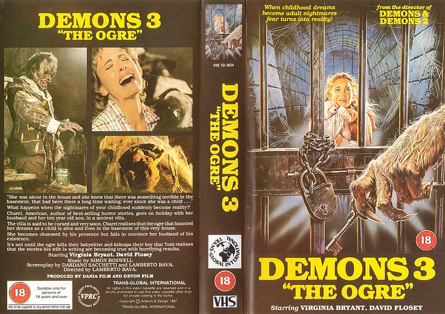 DEMONS 3 (VHS Box Art)