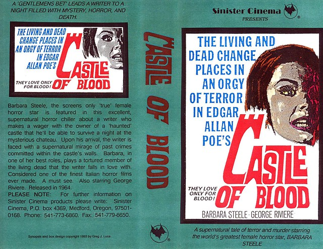 Castle Of Blood (VHS Box Art)