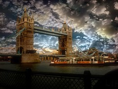 London Tower Bridge VII (Chariots_of_Artists) Tags: uk travel bridge blue light sunset red sky white color london beautiful westminster beauty yellow stone thames architecture clouds river dark gold ray riverboat canarywharf londontowerbridge electricblue platinumheartaward bestcapturesaoi tripleniceshot elitegalleryaoi mygearandme mygearandmepremium mygearandmebronze mygearandmesilver mygearandmegold mygearandmeplatinum mygearandmediamond