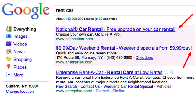 exclamation points adwords