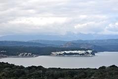 Descente depuis la tour de Santa Manza : baie de Santa Manza et falaises de Rocchi Bianchi vers Balistra