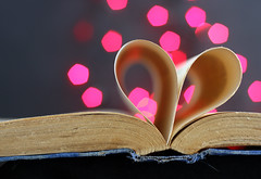 One Week Until Valentine's Day (wishflower4) Tags: pink love book heart romance bookheart