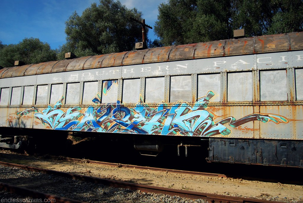 Searius Train Graffiti East Bay CA.