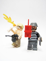 """Fire Eater and Demolitions """"Expert"""" (playslashwrite) Tags: snow expedition hat mobile fur army fire golden back uniform lego rifle bald knife gear monk tibet equipment climbing flame torch pack oil glove british tibetan hunter sikh dynamite professor oriental orient sherpa brat scroll spoiled spear eater robes falconer steampunk redux mountaineers thrower"""