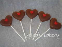 Valentine Chocolate Pops