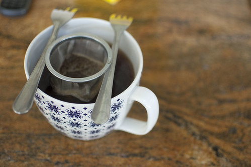impromtu tea strainer