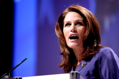 "US congresswoman Michele Bachmann who recently claimed that the United States was in the ""End Times"" a reference to Christian fundamentalist belief in a future global apocalypse"