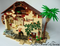 Mc Bernick's Tavern (74louloute) Tags: fight lego cove contest carribean forbidden pirate tavern jolly roger jrc