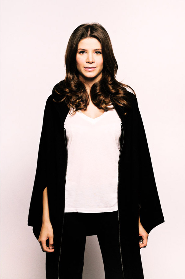 Rebecca McGeoch, PR Portrait for RM Cashmere, Black Wrap