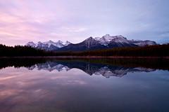 Herbert Lake (Irena Portfolio) Tags: lake mountains sunrise