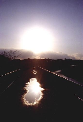 散歩の風景 - 夕陽
