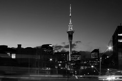 Auckland Sky Tower B&W