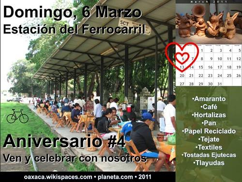 Aniversario #4 (Mercado La Estacion, Oaxaa)