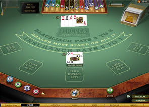Multi-Hand European Blackjack Gold Win