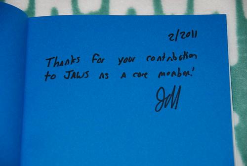 AWSシニアエバンジェリストJeff Barr氏のサイン