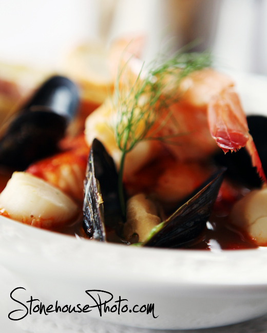 Scallops and mussels - bouillabaisse