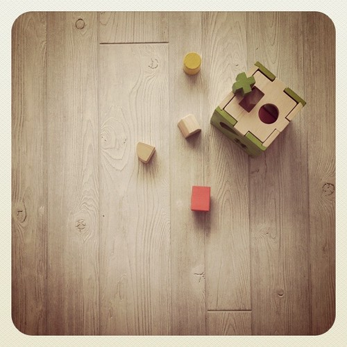 . studio floor with toys . i was bored .