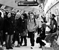 waiting #2 (pamela ross) Tags: uk greatbritain england people men london station train women waiting candid tube wait liverpoolstreet