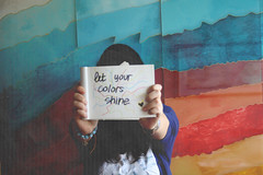 true colors (france5sca ) Tags: blue red green colors true yellow paper rainbow message your bracelets let truecolors