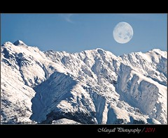 The Mountain Bisalta -Cuneo - Italy - Piemonte - Non Hdr - Jupiter 200 mm f4 M42 mount - Explored (Margall photography) Tags: old italy moon mountain snow canon vintage lens italia luna piemonte 200 neve m42 mm jupiter cuneo montagna f4 manfrotto monopod 30d bisalta piedmunt 776yb mygearandme