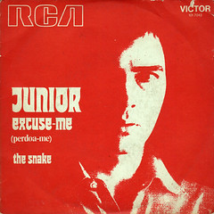 Junior - Excuse Me b/w The Snake (1973) (darklorddisco) Tags: art rock vintage disco design vinyl 45 cover funk record psychedelic sleeve