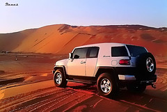 FJ Cruiser (.Qanas.) Tags: photography soft alone desert united uae emirates arab abu dhabi fj cruiser challenge tal qanas liwa rashed alzaabi moreb blackberry9700