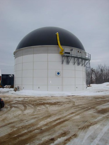 The anaerobic digester on the Jordan Dairy Farm in Rutland, Mass., funded through a loan guarantee from USDA Rural Development