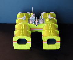 Lime Carrier (-Mainman-) Tags: green lego micro lime fleet carrier alliance hoyt microspace 2011 microscale 23feb11 arcturan