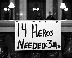 14 Heros -- Needed: 3 More (BlueRobot) Tags: sign wisconsin democracy state budget labor union capital rally protest police capitol solidarity madison heroes wi heros employees fourteen 30mm collectivebargaining killthebill fab14 budgetrepairbill solidaritywi wiunion notinmywi wearewi