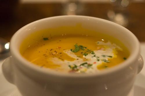 餐湯是海鮮濃湯, 超超超超級好喝!