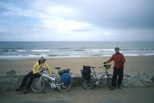 The obligatory photo before setting out from Merville-Franceville-Plage. Photo: Stephen Fox