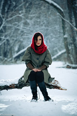 O (mstudiofoto) Tags: winter backlight model woods redridinghood canon7020028is 430exii