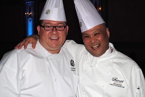 Chef Chad Blunston and Chef Ken Nakano