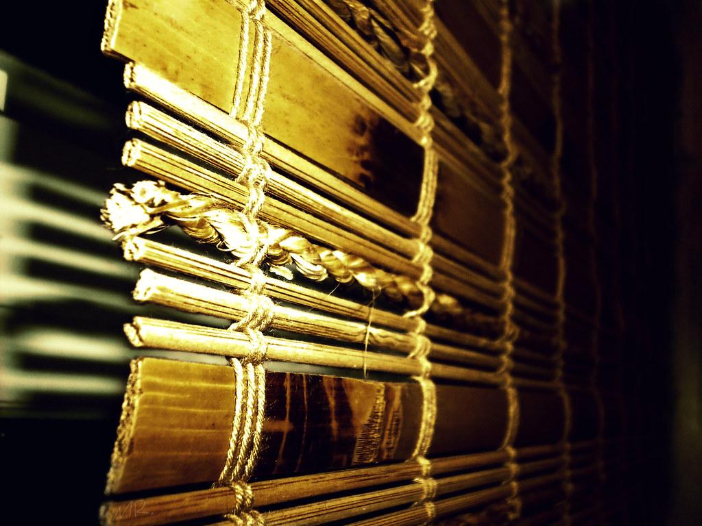 {52/365} Bamboo Blinds