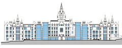 Rear Elevation of Refurbished Surgical Building