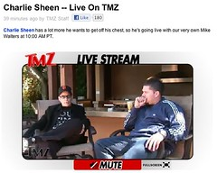 Charlie Sheen LIVE on TMZ from his backyard