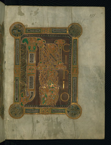 Corvey Gospel fragment, Initial Page John's Gospel, Walters Art Museum Ms. W.751, fol.4r by Walters Art Museum Illuminated Manuscripts