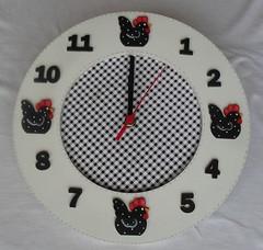 Relgio Galinha Berta (A Flor do Dia) Tags: galinha country patchwork decorao cozinha relgio tecido pinturacountry portarolo quadrogalinha