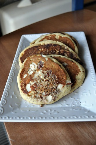 gluten free hazelnut & dried cherry pancakes - take 2