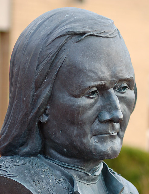 Sculpture of Pierre-Jean De Smet, at De Smet High School, in Creve Coeur, Missouri, USA
