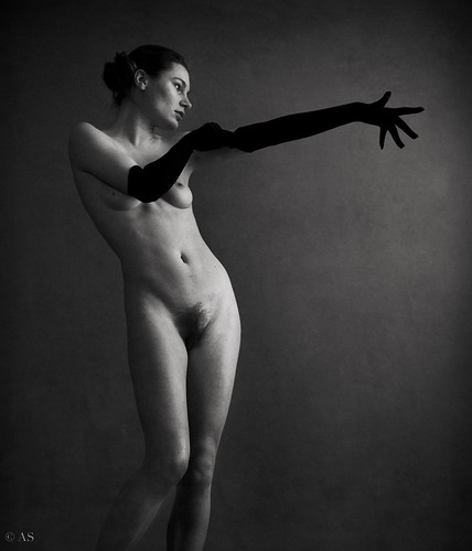 nude with gloves by Alessandro Saponi