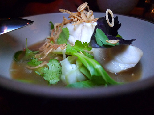 Pink Grouper Pho at Son of a Gun