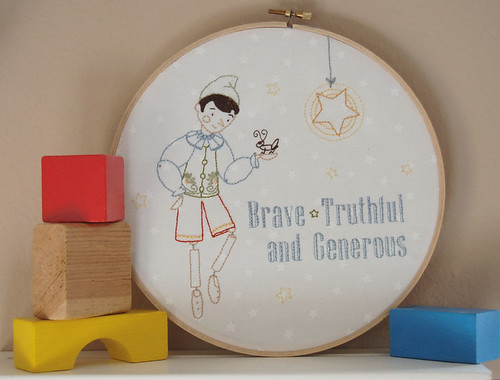 Real Live Boy Embroidery Pattern